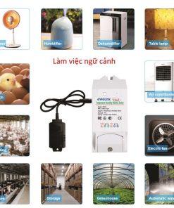 công tắc thông minh giám sát nhiệt độ và độ ẩm