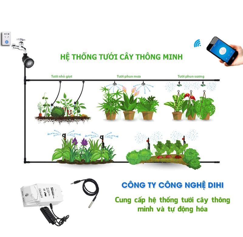 hệ thống tưới cây cảnh thông minh