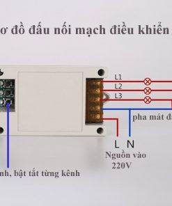 Công tắc điều khiển từ xa rf nhiều kênh
